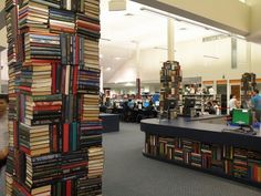 Books as sculpture - Logan Central Library | by State Library of NSW Public Library Services
