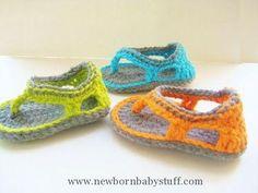 Crochet Baby Booties Trekkers Crochet Pattern, Flip Flop Sandals for Baby Boys, 0...