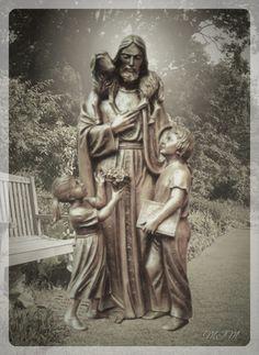 Christ The Good Shepherd, Medium Art, Mixed Media Art, Religion, Statue, Facebook, Mixed Media, Religious Education, Sculptures
