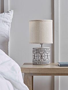 NEW Geometric Glazed Bedside Lamp