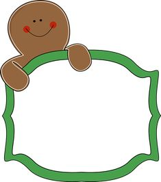 Free Gingerbread Clip Art Borders~ Great site for all kinds of free graphics!