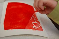 Easy Reverse Resist Paintings - Inner Child Fun Bleeding tissue paper paint with water, let dry, then peel paper apart