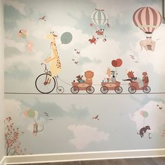 Wallpaper for kids room – We just need to know the exact measures of your wall - BABY ROOM Little Hands Wallpaper, Kids Room Wallpaper, Wall Wallpaper, Kids Bedroom Boys, Boys Room Decor, Boy Room, Kid Bedrooms, Kids Room Murals, Murals For Kids