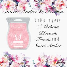Scentsy Spring/Summer 2017 New Release Sweet Amber & Freesia