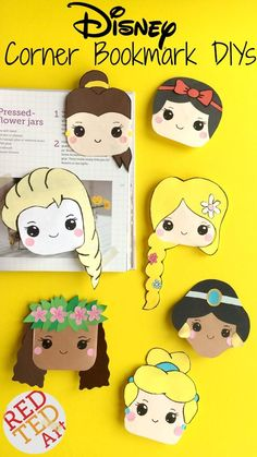 Red Ted Art's love for Corner Bookmarks continues! Oh my, we love Disney Princesses SO MUCH!!! So created a very special set of Disney Princess Corner Bookmark Designs JUST FOR YOU. #disney #princess #bookmarks