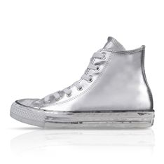 CONVERSE WOMEN'S CHUCK TAYLOR ALL STAR SILVER CHROME MID