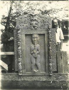 (32AD) ATTRIBUTED TO JAMES MCDONALD Tene Waitere with carved door of Te Wharepuni a Māui n\Attributed to James McDonald c1890's… / MAD on Collections - Browse and find over 10,000 categories of collectables from around the world - antiques, stamps, coins, memorabilia, art, bottles, jewellery, furniture, medals, toys and more at madoncollections.com. Free to view - Free to Register - Visit today. #Photography #IndigenousPeople #MADonCollections #MADonC