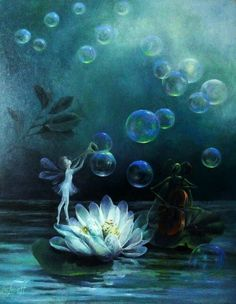 fairy on a waterlily