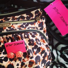 One of my Betsey Johnson purses I have. It was $40 but i got it at TJ maxx for $8!! -drea