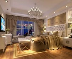 white and camel bedroom? with metallic accents? probably gold or bronze would go best with this, but silver could be an interesting cool contrast...