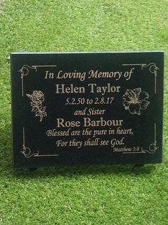 Flat Headstones, Grave Headstones, Flat Grave Markers, Grave Plaques, Cemetery Monuments, Cemetery Decorations, Memorial Stones, Black Granite, In Loving Memory