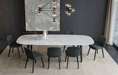 Rectangular marble table MAD DINING TABLE Mad Collection by Poliform design Marcel Wanders Source by koumaly Luxury Dining Room, Dining Room Design, Dining Room Table, Table And Chairs, Dining Chairs, Marble Dining Tables, Room Chairs, White Dinning Table, 8 Seater Dining Table