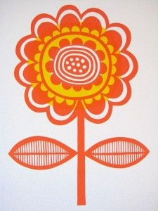 scandanavian flower print