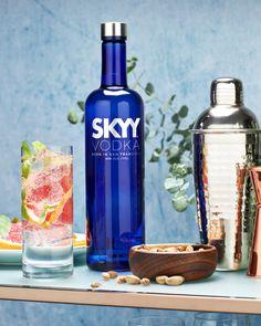 3 Unusual SKYY Vodka Cocktail Recipes Skyy Vodka, Vodka Cocktails, Drinks, Cocktail Recipes, Vodka Bottle, Food, Vodka Based Cocktails, Drinking, Beverages
