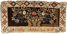 American Folk Art Rugs | The selection of folk art included this American pictorial hooked rug ...