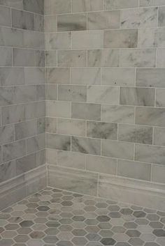 "Love the large tile & base""tile"" border. Maybe add some color with a vertical stripe of some mosaic type tile."