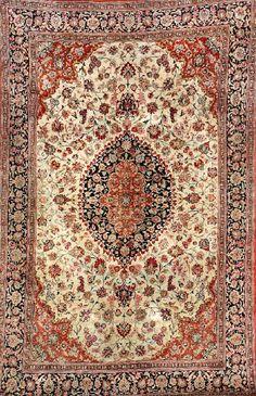 Silk Qum Rug, Persia, circa 40 years old, pure silk, approx. 305 x 195 cm