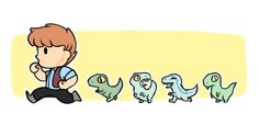 momma raptor and his raptorlings