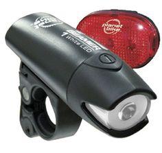 Amazon.com: Planet Bike Beamer 1 and Blinky 3 LED Bicycle Light Set: Sports & Outdoors