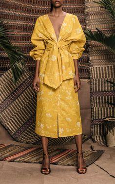 San Bernardo Del Viento Printed Cotton Dress by JOHANNA ORTIZ Now Available on Moda Operandi