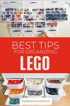 BEST TIPS For Organizing LEGO Pieces!!