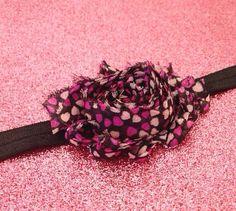 Baby Headband- Black Headband, Heart Headband, toddler Headband, Newborn Headband, Photo Prop, Pink Heart Headband on Etsy, $3.25