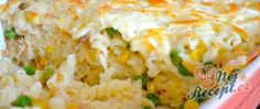 Zapečené těstoviny s tuňákem a sýrem Tiramisu, Cauliflower, Grains, Vegetables, Pizza, Quick Cake, Souffle Dish, Pasta With Tuna, Meat