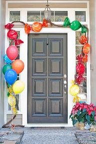 Is it party time? Wow your guests with these front door decorations. To take your decorating to the next level here are 10 ways to decorate your front door for a party. Birthday Candy, 1st Birthday Parties, Birthday Ideas, Turtle Birthday, Turtle Party, Carnival Birthday, 2nd Birthday, Candyland, Candy Land Christmas
