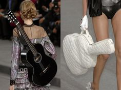 chanel guitar with a quilted white case, are you kidding.