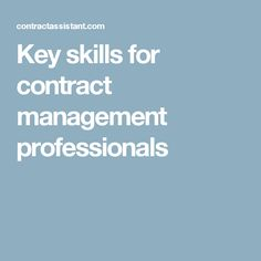 The Role Of A Contract Manager  Update  Commitment Matters