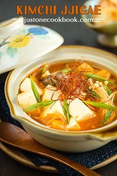 Kimchi Jjigae (Korean Kimchi Stew)   Easy Japanese Recipes at JustOneCookbook.com