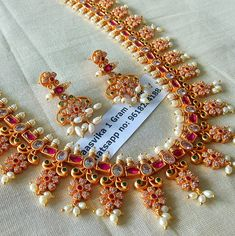 Price: Rs.3850. Beautiful long haaram studded with multi color stones.For order processing what s app on 9618284188  30 January 2018