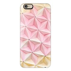 iPhone 6 Plus/6/5/5s/5c Case - Origami in Pastel Pink by Coco Sato ($40) ❤ liked on Polyvore featuring accessories, tech accessories, phone cases, cases, phones, electronics, iphone case, iphone cover case, apple iphone cases and pink iphone case