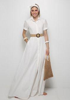 Λευκό φόρεμα σεμιζιέ Short Sleeve Dresses, Dresses With Sleeves, Style, Fashion, Swag, Moda, Sleeve Dresses, Fashion Styles, Gowns With Sleeves
