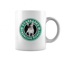 Funny Dog Mug  Starbarks Frenchie Roast French Bulldog