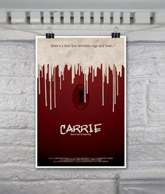 Carrie // Vintage Inspired Horror Movie Poster // by TheGeekerie, $20.00