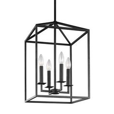 Sea Gull Perryton 4 Light Blacksmith Hall Foyer Fixture - Free Shipping Today - Overstock.com - 20891208 - Mobile