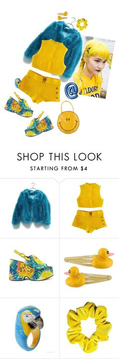 """Neon Nights"" by km-r7 ❤ liked on Polyvore featuring Clips and Anya Hindmarch"