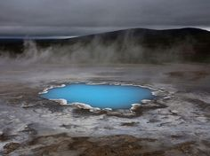 Silica - hot water pond in Iceland