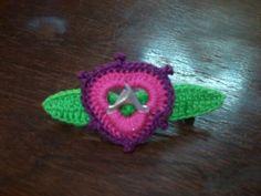 Hebilla de crochet con anillas de aluminio reciclado!! #samanthacreaciones