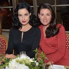 Dita Von Teese and her sister Sarah