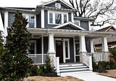 """Craftman style home - with  low slope """"hip"""" where the roof line comes in all four directions like ours"""
