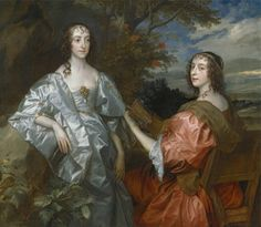 Katherine, Countess of Chesterfield, and Lucy, Countess of Huntingdon by Anthony Van Dyck, 1636 to 1640