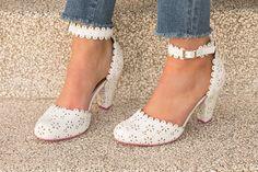 July Retro White Heels by Cristofoli