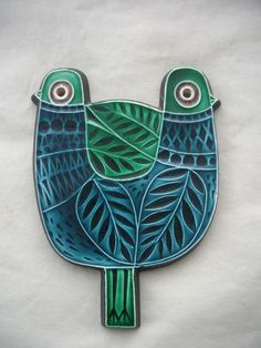 Robert Jefferson; Glazed Ceramic Wall Plaque for Poole, c1960.