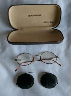 fcc78635f8ad Giorgio armani glasses clip on sunglasses case