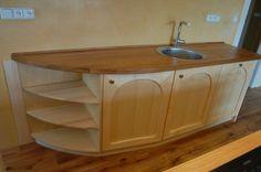 Kuchyně - Javorová kuchyň s dubovou deskou | Rukodílna