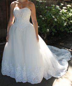 plus size sweetheart pearl accented ball gown style wedding dress, look over and click the picture to purchase.