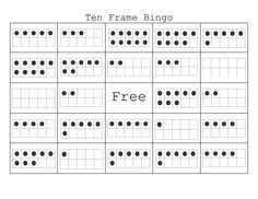 Ten+Frame+Bingo Class set made and ready to print!