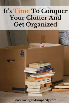 It's time to conquer your clutter and get organized. Did you know that clearing out the clutter and organizing your home can save you money? Learn how.